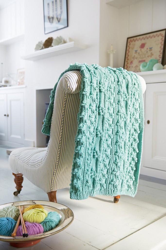 Pattern-Green-Blanket-Knitting-crochet-home-décor-knitted-decorations-knitted-home-decor-crochet