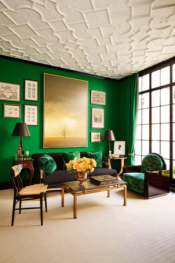 Royal-Green-Interior-Design-Livingroom-Big-Picture-colors-color-palette-colour-schemes-complementary-colors-colour-combination-basic-color-wheel