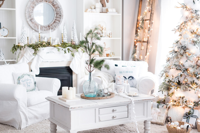 Beautiful Christmas Decor For Living Room Bright Home
