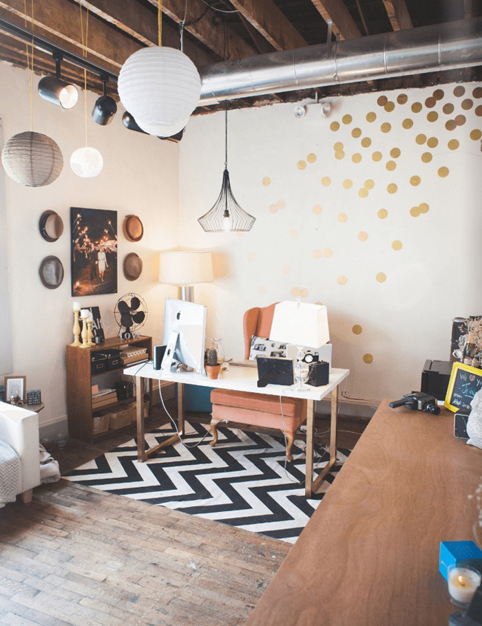 colorful feminine office furniture. Black-and-White-Rug-Feminine-Office-Cozy-Feminine- Colorful Feminine Office Furniture I