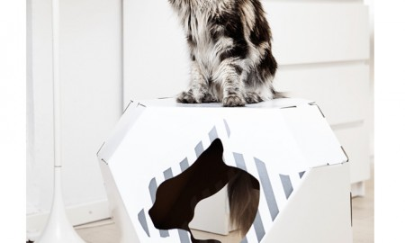 Cardboard-Cat-Indoor-House-Reversible-Pet-House-White-Cat-House-Beautiful-Long-Hair-Cat