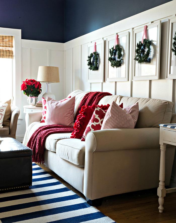 Christmas-Red-White-Decorating-Sofa-Christmas-Pillows-christmas-diy-christmas-home-décor-christmas-decoration-ideas-christmas-mantel-decorations