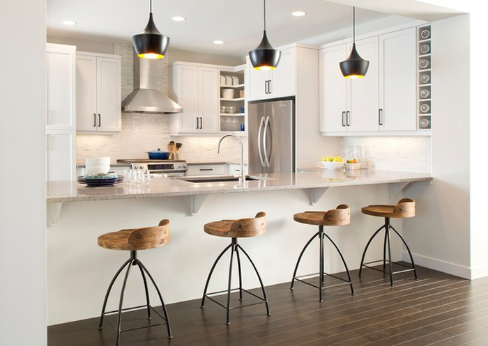 Contemporary-Kitchen-Island-Wooden-Chairs-Modern-Chairs-White-Big-Modern-Kitchen