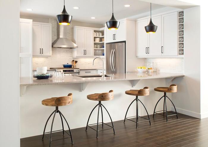 Contemporary-Kitchen-Island-Wooden-Chairs-Modern-Chairs-White-Big-Modern-Kitchen