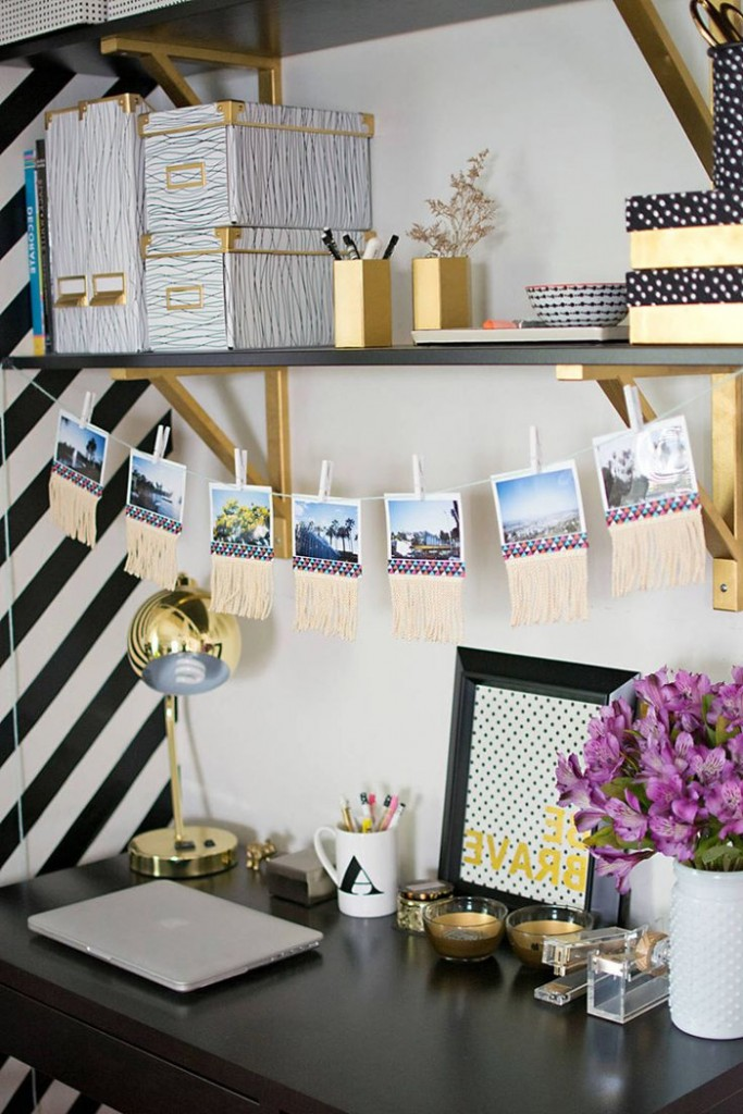 Feminine-Gold-Office-Gold-Workplace-Black-Desk-Flowers-on-Desk-home-office-feminine-home-office-home-office-ideas-home-office-desk-home-office-design