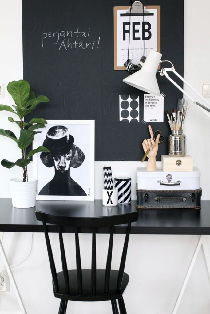 Feminine-Office-Black-and-White-Stylish-Design-Modern-Feminine-Desk-home-office-feminine-home-office-home-office-ideas-home-office-desk-home-office-design