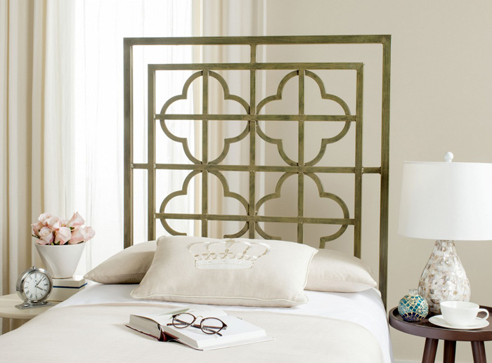 Green-Metal-Headboard-Interesting-Headboards-White-Bedroom-Reading-Time-in-Bed