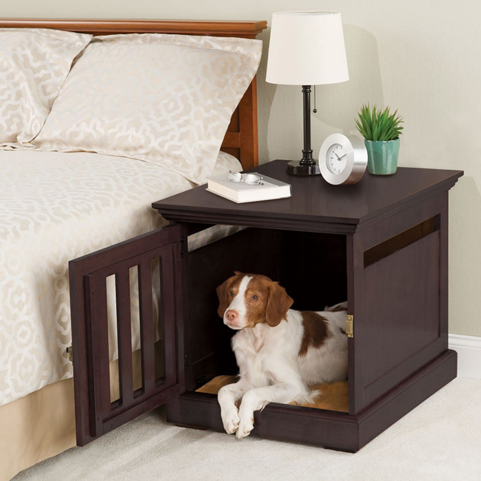 Indoor-Dog-House-In-the-Bedroom-In-The-Bedside-Cabinet-Modern-Pet-House