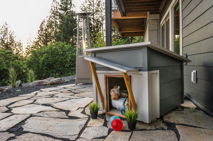 Modern-Outdoor-Dog-House-Matches-Home-Grey-Small-Dog-House-dog-house-wooden-dog-house-pet-beds