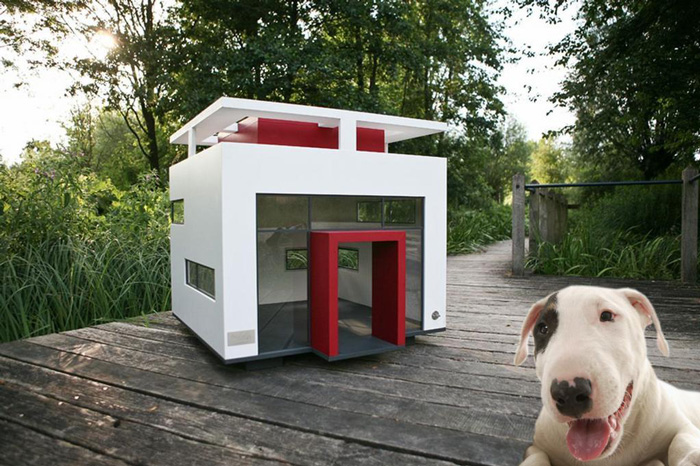 Modern-Outood-Dog-House-Red-Roof-White-Pet-House-dog-house-wooden-dog-house-pet-beds