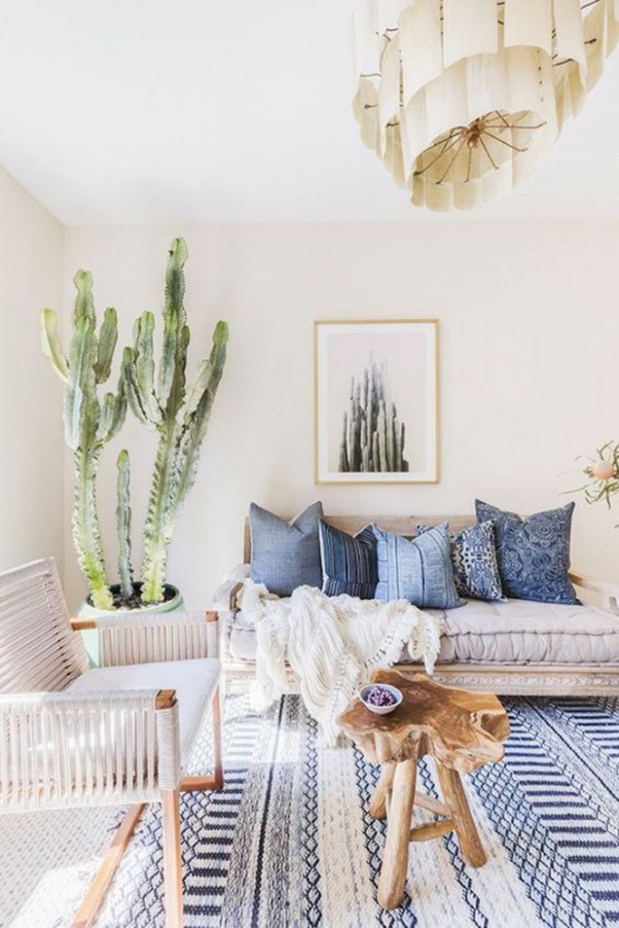 Natural-Decor-Wooden-Table-in-Living-room-Natural-Home-Accessories-Cactus-in-Vase-Blue-Pillows-Bright-Room