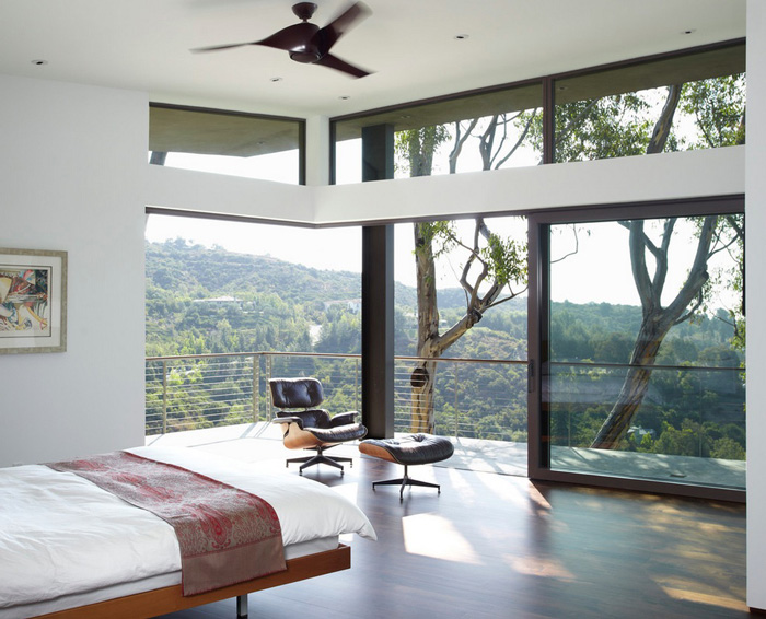 Natural-Light-In-Bedroom-Big-Windows-Nice-View-Trees-Green-Wood-Modern-Bedroom-home-accents-home-decor-accessories