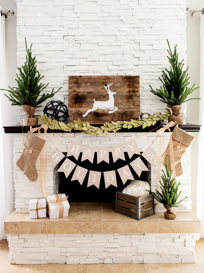 Natural-Living-Room-Decor-Holidays-Wooden-Decor-Fireplace-Decorations-Home-Wooden-Accessories-Natural-Look-Home