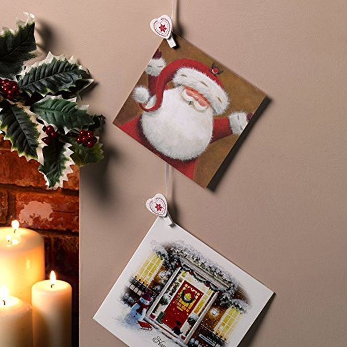 old christmas cards decoration white christmas livingroom decoraion - Christmas Diy Decorations
