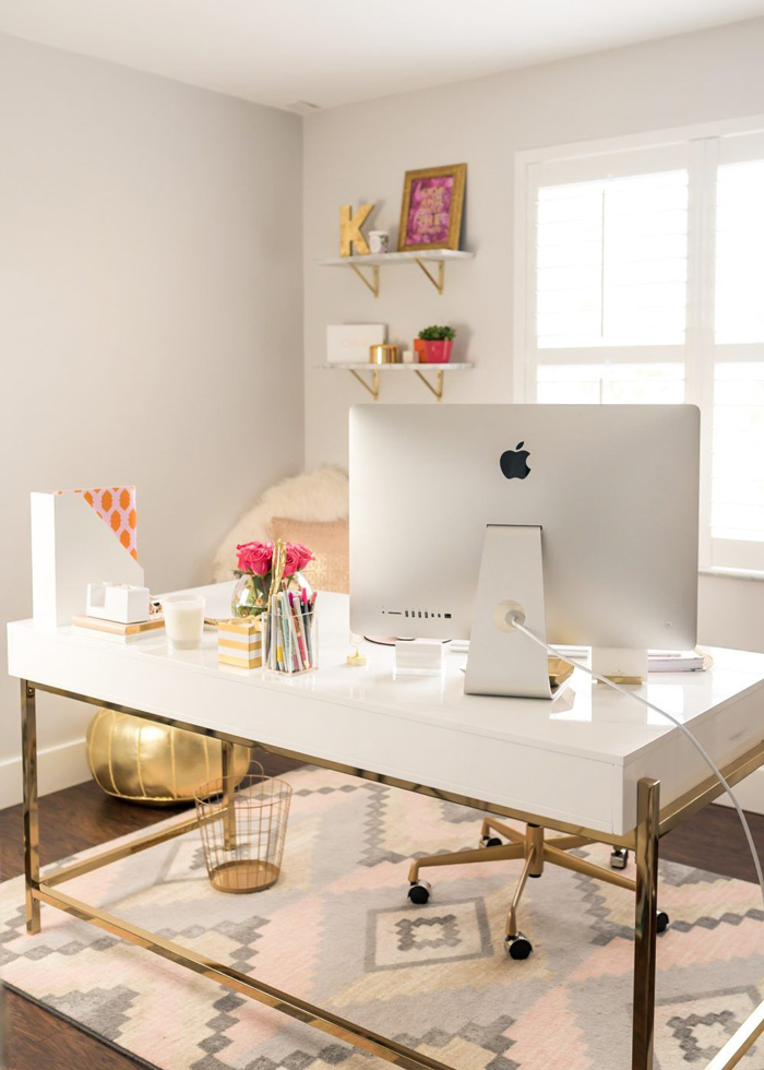 Soft-Feminine-Colors-Designed-Office-home-office-feminine-home-office-home-office-ideas-home-office-desk-home-office-design