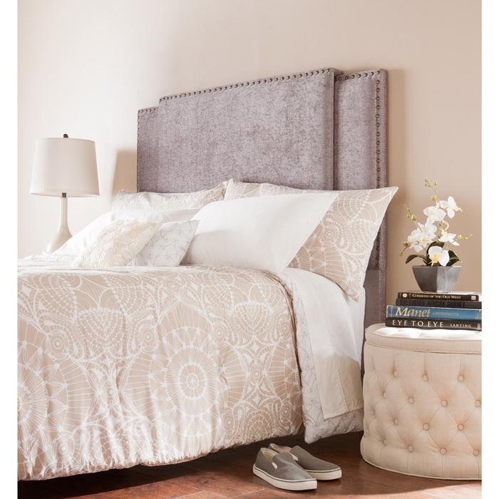 Upholstered-Headboard-Fabric-Headboard-Cozy-Bed-Flower-Blanket-Flowers-in-Bedroom-White-Light