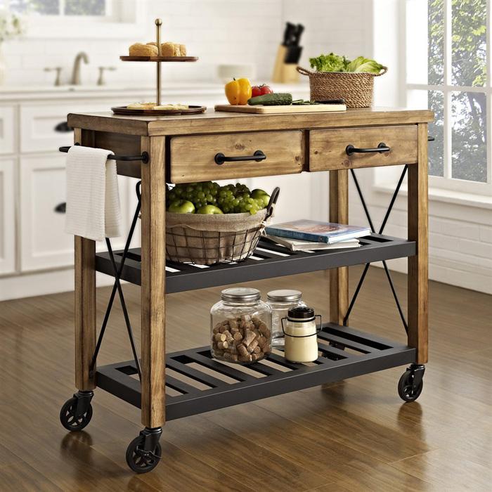 Vintage-Kitchen-Island-Wooden-Kitchen-Island-on-Wheels-Cozy-Kitchen-Ideas