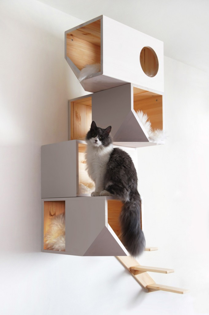 Wall-Cat-House-Wooden-Cat-Indoor-House-Pet-House-with-Stairs-and-Pillows