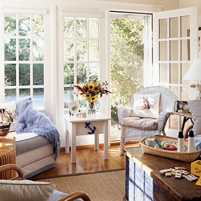 Bright Cozy Living Room In Cottage Style Family