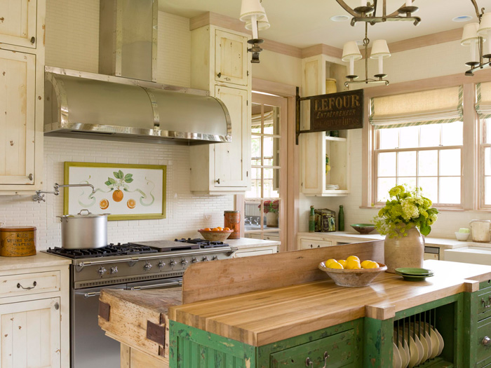 Cottage Kitchen Green Kitchen Modern Cottage Style Interiors
