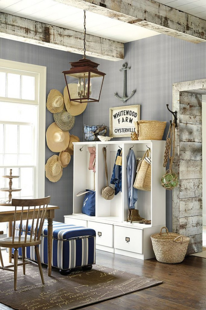 Textured Wall Blue Wall Cozy Beach Apartment Cottage