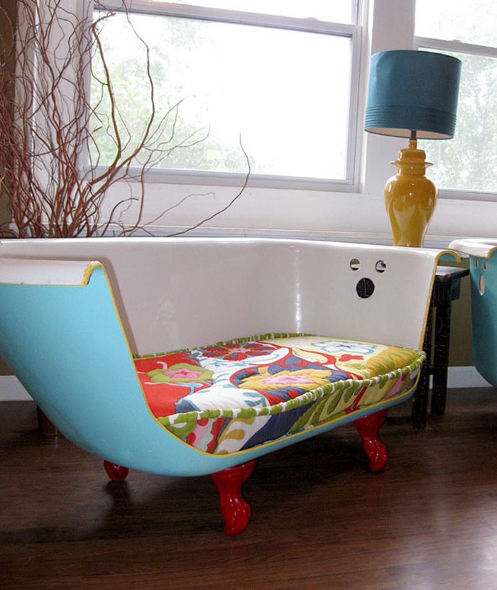 Top-interior-design-trends-for-2018-Recycled-Furniture-Trends-Recycled-Bath-Tub-Transformed-into-Sofa