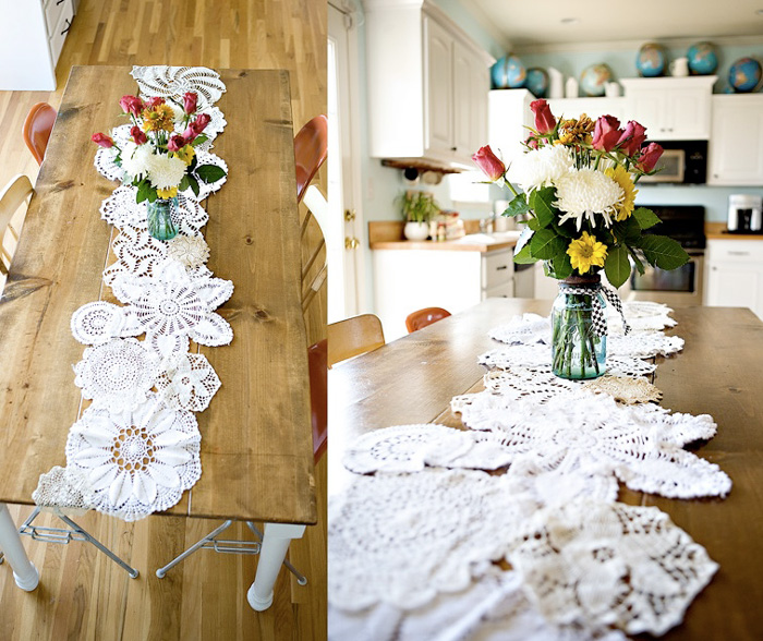 DIY-doily-table-runner-simple-centerpieces