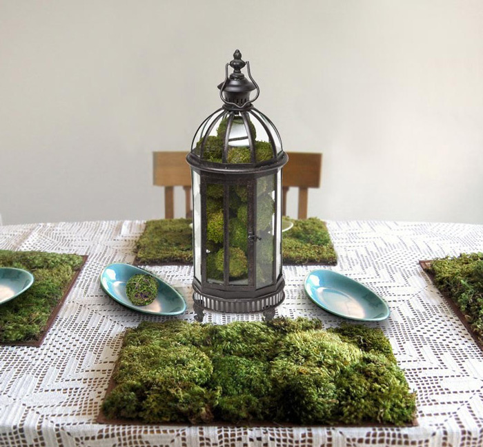 Victorian-Table-Lantern-Moss-Decorations-Garden-Party-Decorations-Green-Centerpiece