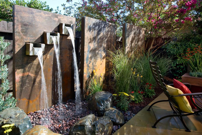 Contemporary-Waterfall-Design-Backyard-Waterfalls