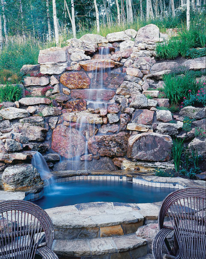 DIY-Rustic-Garden-Waterfall-Made-of-Stones
