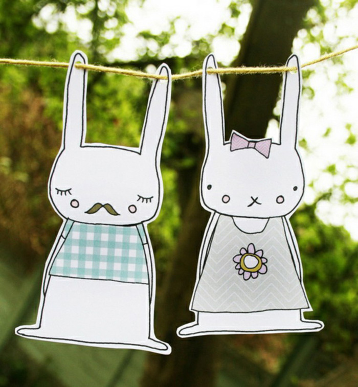 Garden-Easter-Decor-Paper-Cute-Bunnies