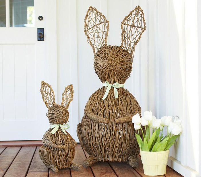 Handmade-Bunnies-Easter-Outdoor-Decoration-Ideas