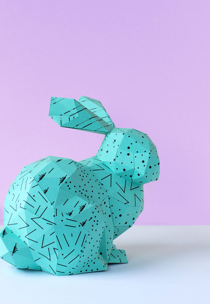 Handmade-Papper-Easter-Bunny-Blue-Rabbit