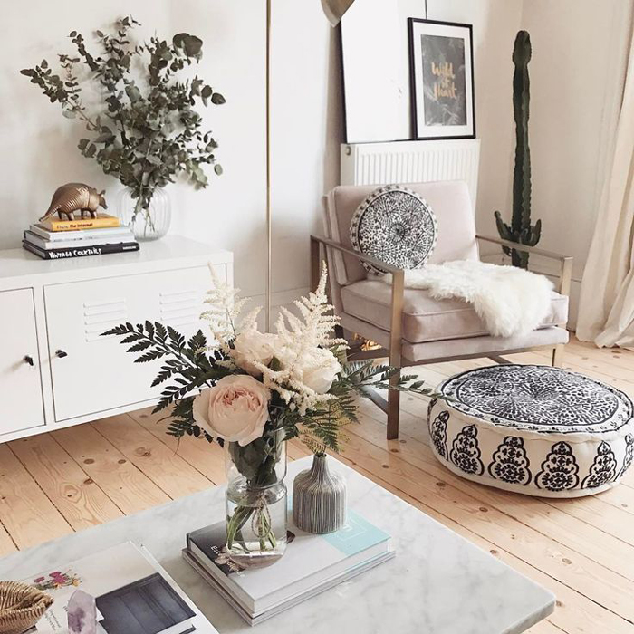 Design ideas for dreamy boho home d cor pretend magazine - Boho chic living room decorating ideas ...