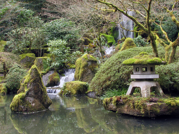 Natural-Japanese-Backyard-Garden-Waterfall