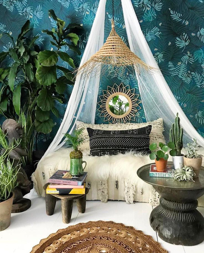 Elegant Cannopy Bohemian Nook Boho Home Decor