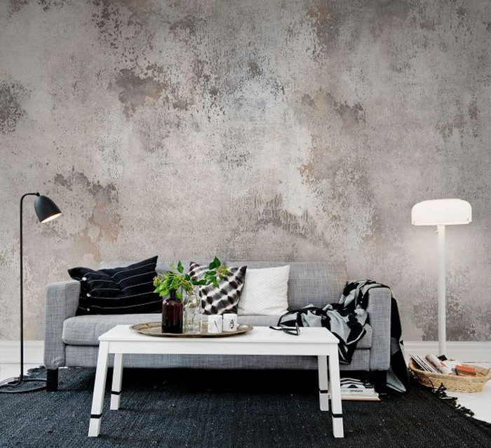 industrial-interior-design Grey Wall