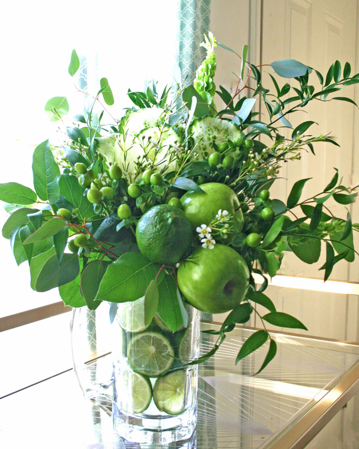 flower-arrangement-ideas-green-furits