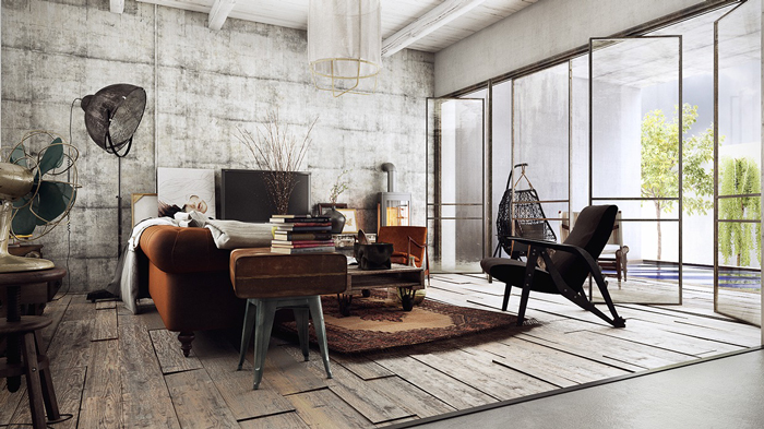industrial-home-decor-industrial-style
