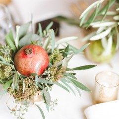 Home Décor with Flowers and Fruits