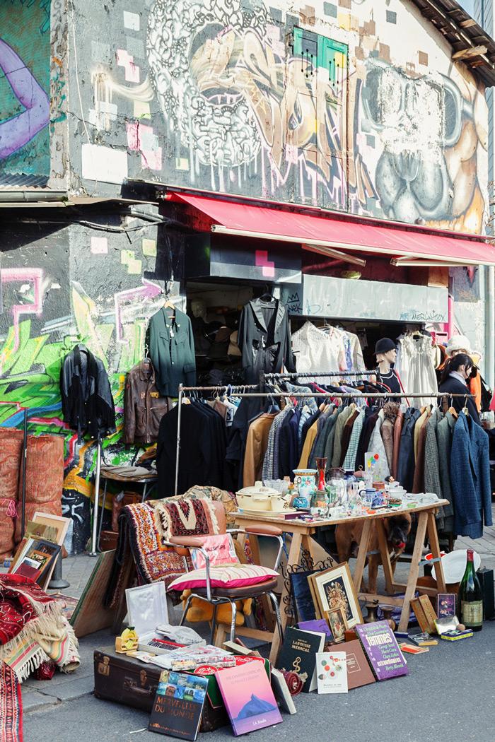 Les-Puces-de-Saint-Ouen-Paris-Marketplace-Clothes-Trade