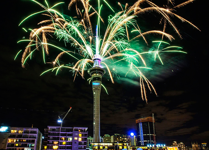 Auckland-Celebrates--New-Year-First-Fireworks