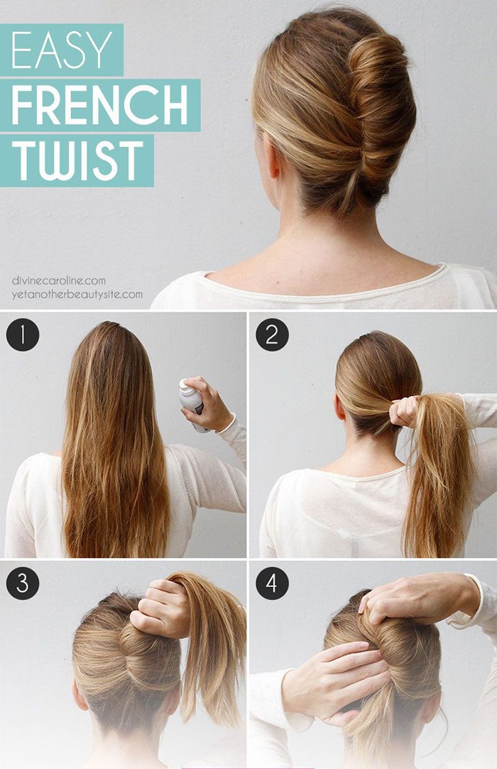 How to Easy French Twist in 4 Steps