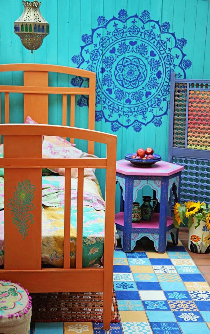Maroccan-Inspired-Kid-Bedroom-Bohemian-Bedroom