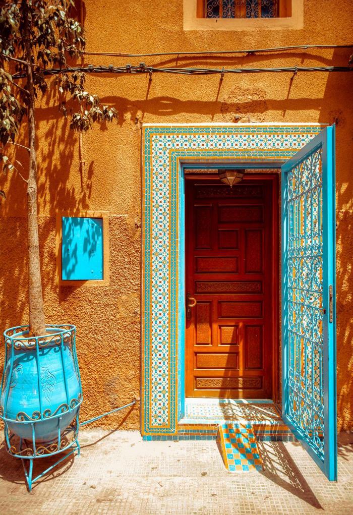 Maroccan-Style-Blue Front-Door