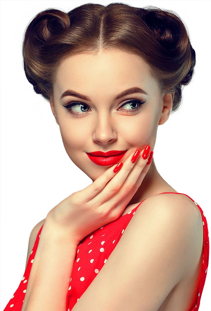 Pin-Up-Girl-Red Dress makeup-Ideas-for-Valentines-Day