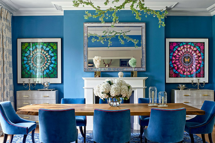 Blue-Patterns-in-Dining-Room-Ideas