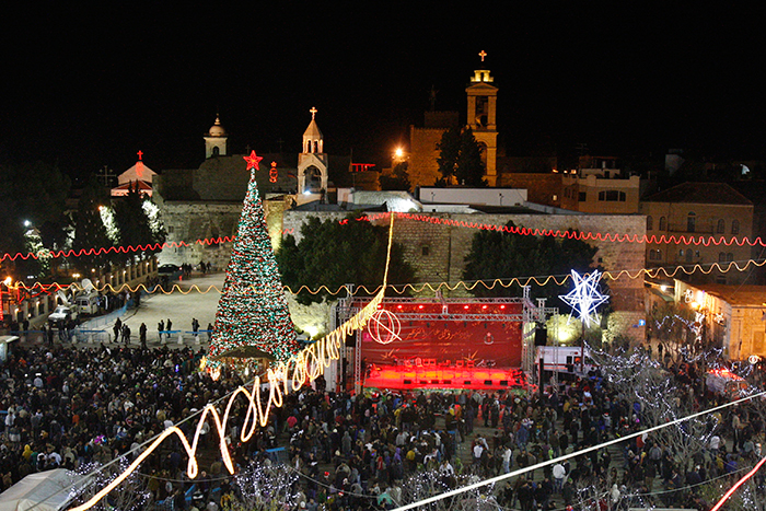 Christmas-Eve-in-Bethlehem,-West-Bank
