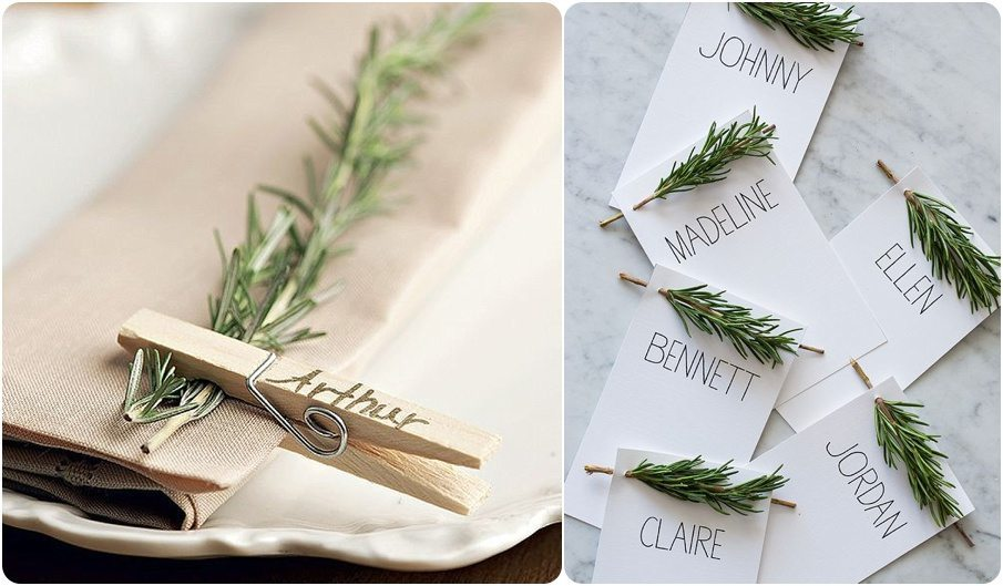Christmas Name Holders Ideas
