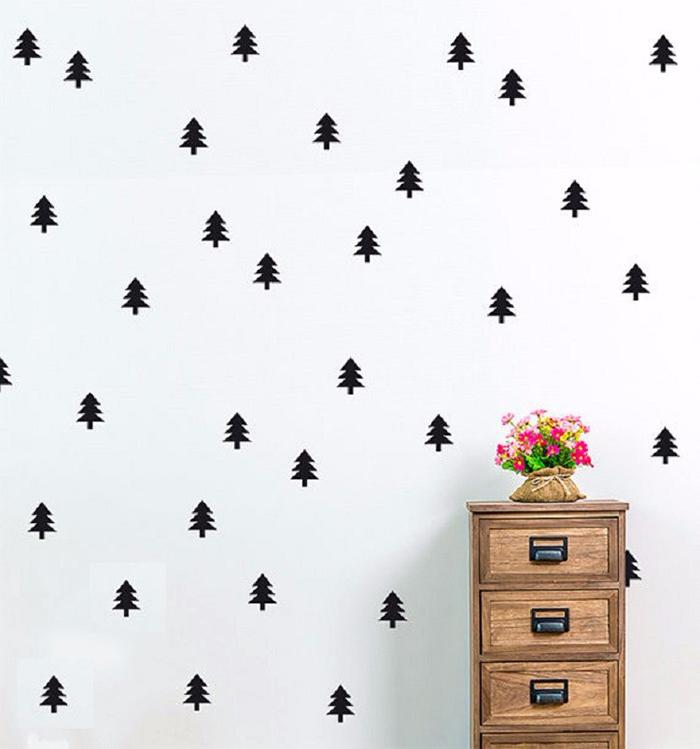 Creative-Christmas-Wall-Sticker-Ideas